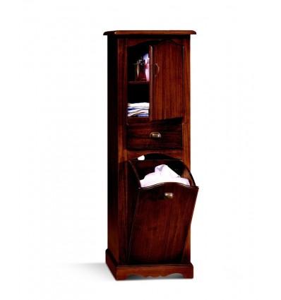Mobile porta biancheria singolo1 porta 1 cassetto 1 ribalta tinta noce L81/F